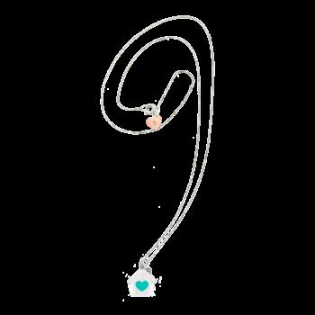 Collana veneziana con cuoricino in argento rosato