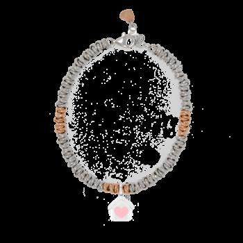 Bracciale nodini bicolore intervallati in argento 925