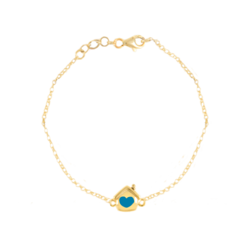 Bracciale Rolò minimal dorato in argento 925