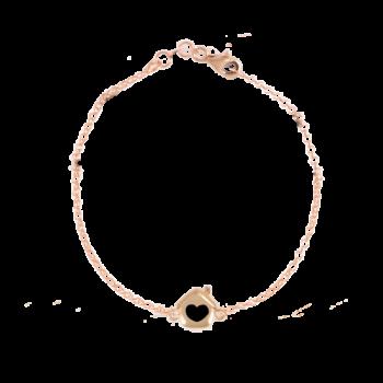 Bracciale Rolò minimal rosato in argento 925